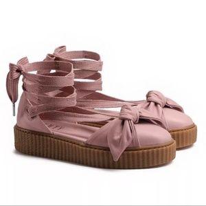 Puma X Fenty Rihanna Pink Bow Creeper Sandals